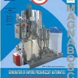 Generatore di vapore a gas, gasolio e nafta.