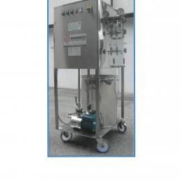 Stainless electric steam generator on wheels