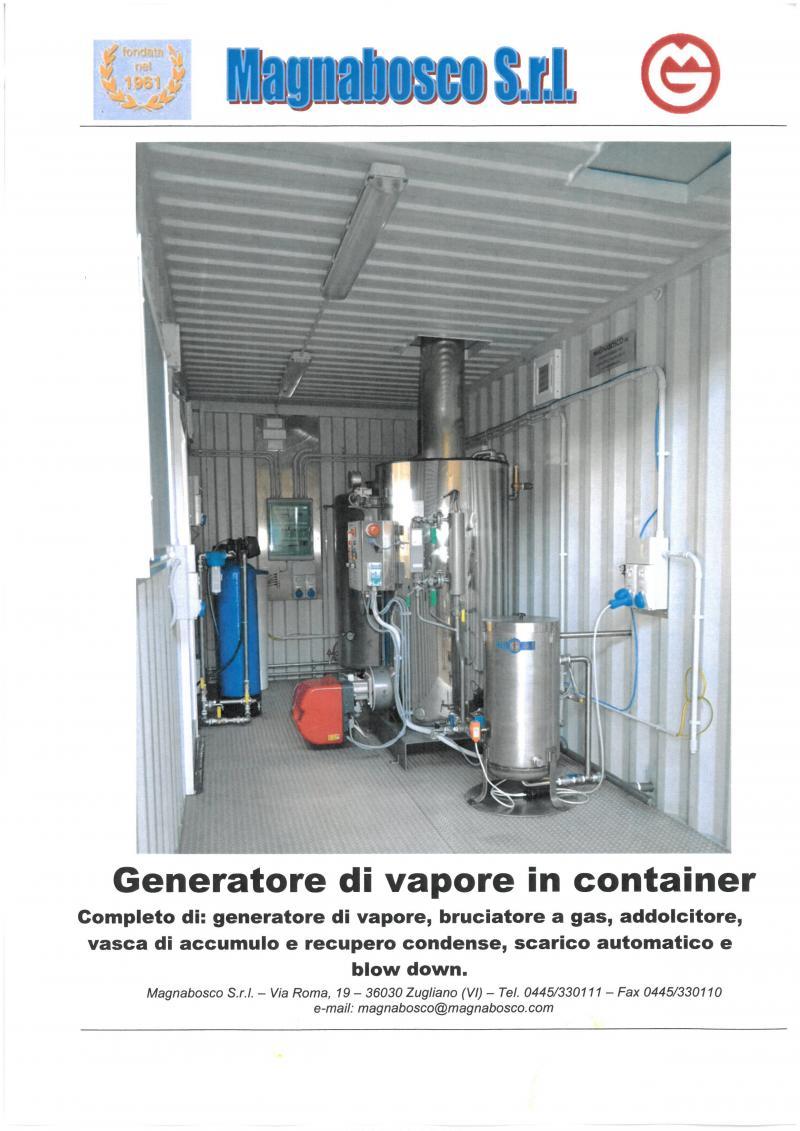 Steam boiler in container | Magnabosco srl