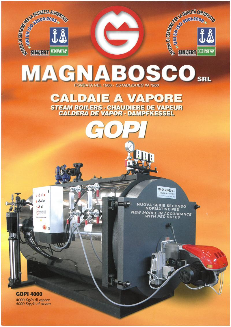 Steam Boiler presurized GOPI | Magnabosco srl