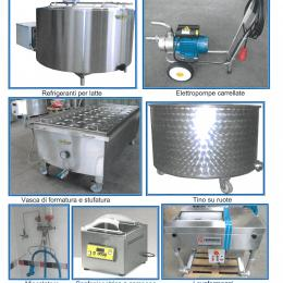 Various equipment for dairies