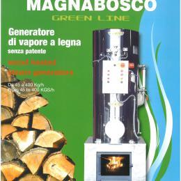 Generatore di vapore a legna