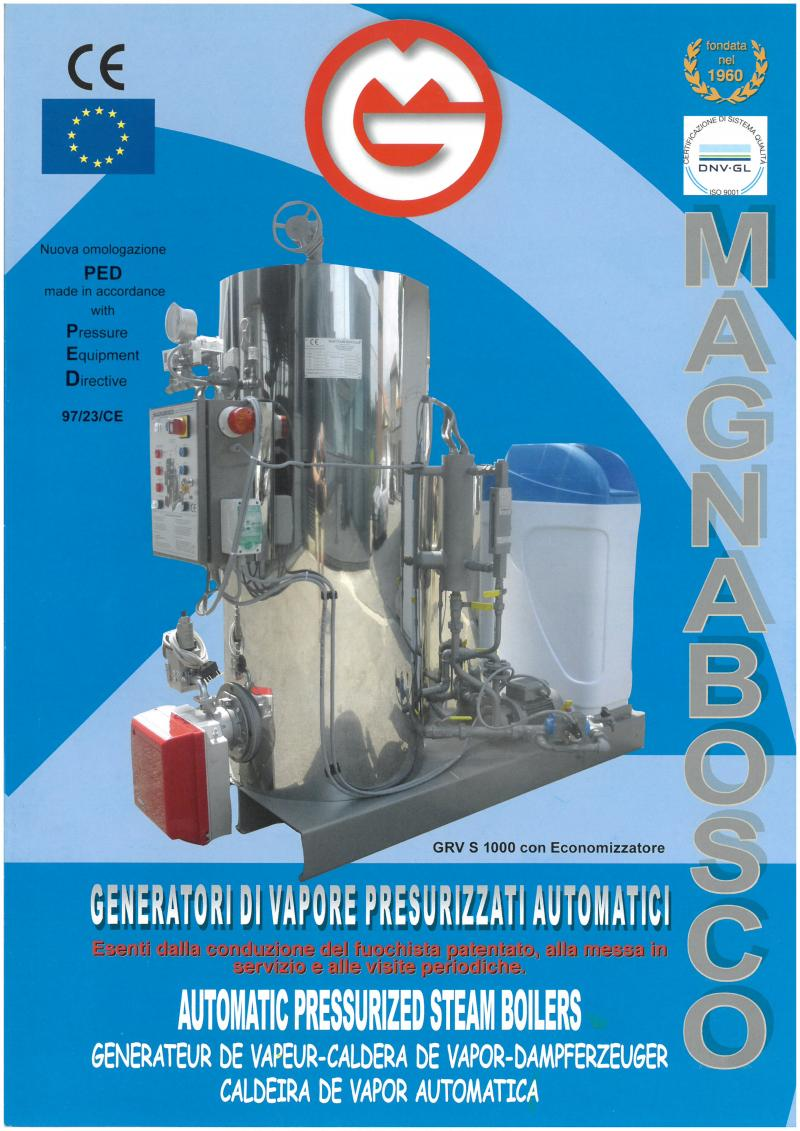 Steam Boilers gas, gasoline, nafta. | Magnabosco srl