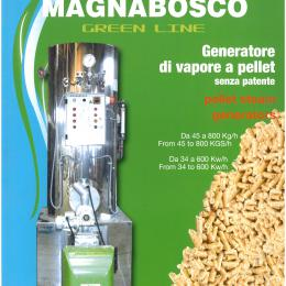 Generatore di vapore a pellet