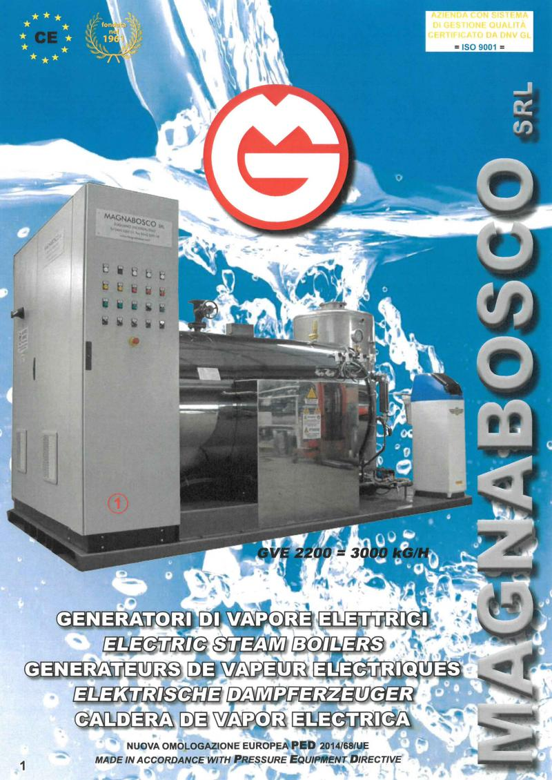 Electric steam boilers | Magnabosco srl