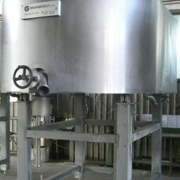 Cheese vat open type double zero shape