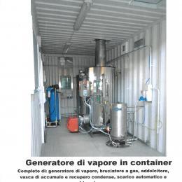 Generatore di vapore in container