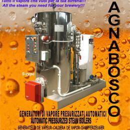Generatore di vapore per birrerie